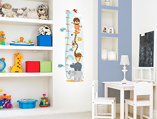 i love wandtattoo m 13 001 kinderzimmer messlatte safari zum kleben beschriften und selbst. Black Bedroom Furniture Sets. Home Design Ideas