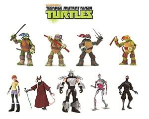 Teenage Mutant Ninja Turtles 9-Pack Basic Figure Bundle
