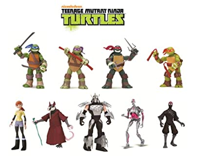Teenage Mutant Ninja Turtles 9-Pack Basic Figure Bundle