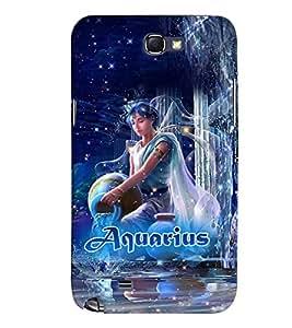 PRINTVISA Zodiac Aquarius Case Cover for Samsung Galaxy Note 2 N7100