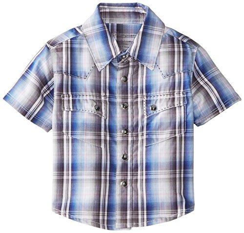 Wrangler-Maglietta a maniche lunghe, da bambino, colore: grigio/blu, 12 mesi, colore: grigio/blu, taglia: 12 mesi, Baby/Babe, per bambini piccoli)