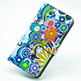 Printing Series for Samsung Galaxy Note2 N7100 Colorful Bloom Multi Flower PU leather Case Drawing Phone sets Water sets Mobile phone case Protective shell Cover Mobile Phone Accessory Protect Skin - Colorful Bloom