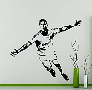 Cristiano ronaldo wall vinyl decal cr7 real madrid for Cristiano ronaldo wall mural