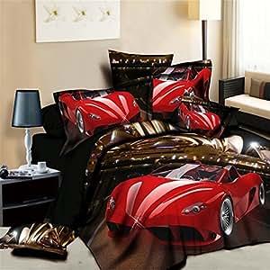 newrara lamborghini printed bedding 3d. Black Bedroom Furniture Sets. Home Design Ideas