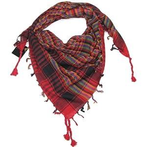 Multicoloured Red Desert Scarf  Try these trendy desert scarves  Shemagh  Keffiyeh