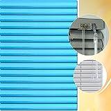 Aluminium Jalousie 175 x 140 cm (Breite x Höhe) – Lamellenfarbe 1512 ozean glitter // Maßanfertigung Alu Jalousien Jalousette Rollo Plissee