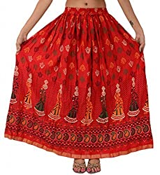 Skirts & Scarves Women's Printed Cotton Bohemian Long Skirts