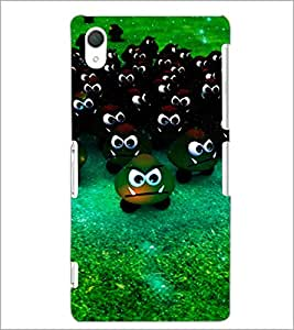 PrintDhaba Scary Smilies D-3903 Back Case Cover for SONY XPERIA Z2 (Multi-Coloured)