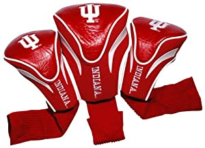NCAA Indiana Hoosiers 3 Pack Contour Golf Club Headcover by Team Golf