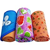 BRANDONN Hooded Blanket Cum Wrapping Sheet For Babies (Set Of 3, 3PC-006)