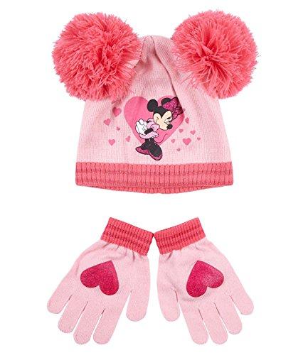 Disney Minnie Ragazze Confezioni 2 pezzi: berretto e guanti - rosso - 52