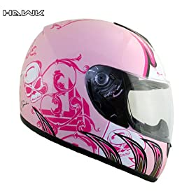 Advanced Hawk Pink Queen Full Face Motorcycle Helmet