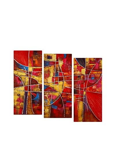 Arte Dal Mondo Cuadro 3 Piezas Edgar Ramirez Astratto