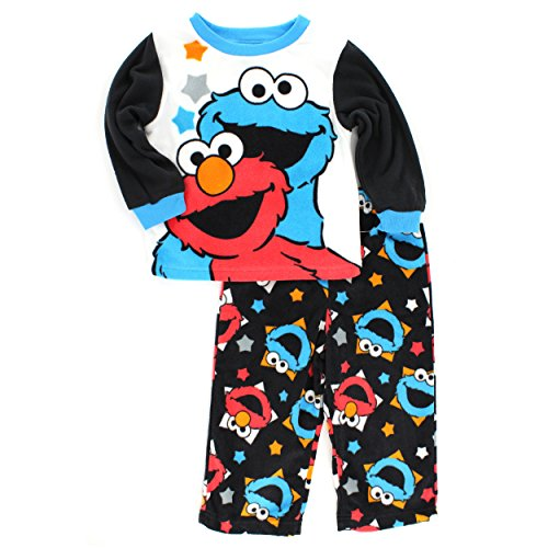 Elmo Cookie Monster Infant Toddler Fleece Pajamas (18M)