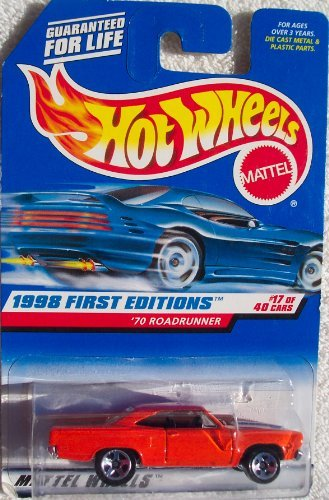 Hot Wheels 1998 First Editions `70 Roadrunner #17/40 1:64 Scale