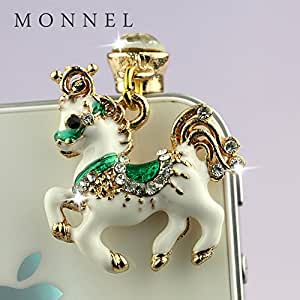 ip670C New Arrival White Unicorn Cell Phone Charm Dust Proof Plug