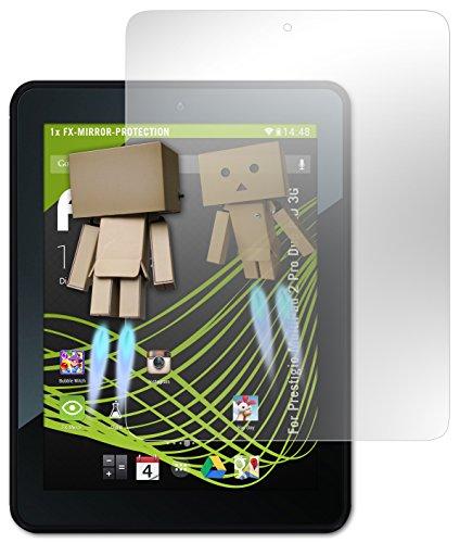 atFoliX Spiegel-Folie Prestigio MultiPad 2 Pro Duo 8.0 3G Displayschutz - FX-Mirror mit spiegeleffekt