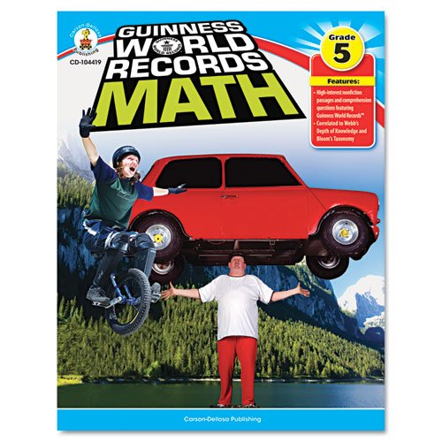 Guiness World Records Math, Grade 5, 128 pages - 1