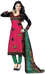 Shivani Women's Cotton Dress Material (Pink)