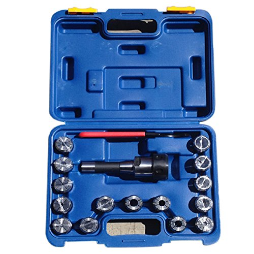 Bolton-Tools-R8-End-mill-chuck-with-16-piece-collet-set-Quick-Change-Collet-Chuck