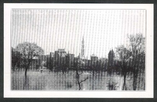 Bushnell Park Flood Hartford Ct Travelers Tower Undivided Back Postcard 1936