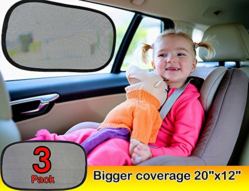 kinder-Fluff-Car-window-shade-Extra-Large-3-Pack