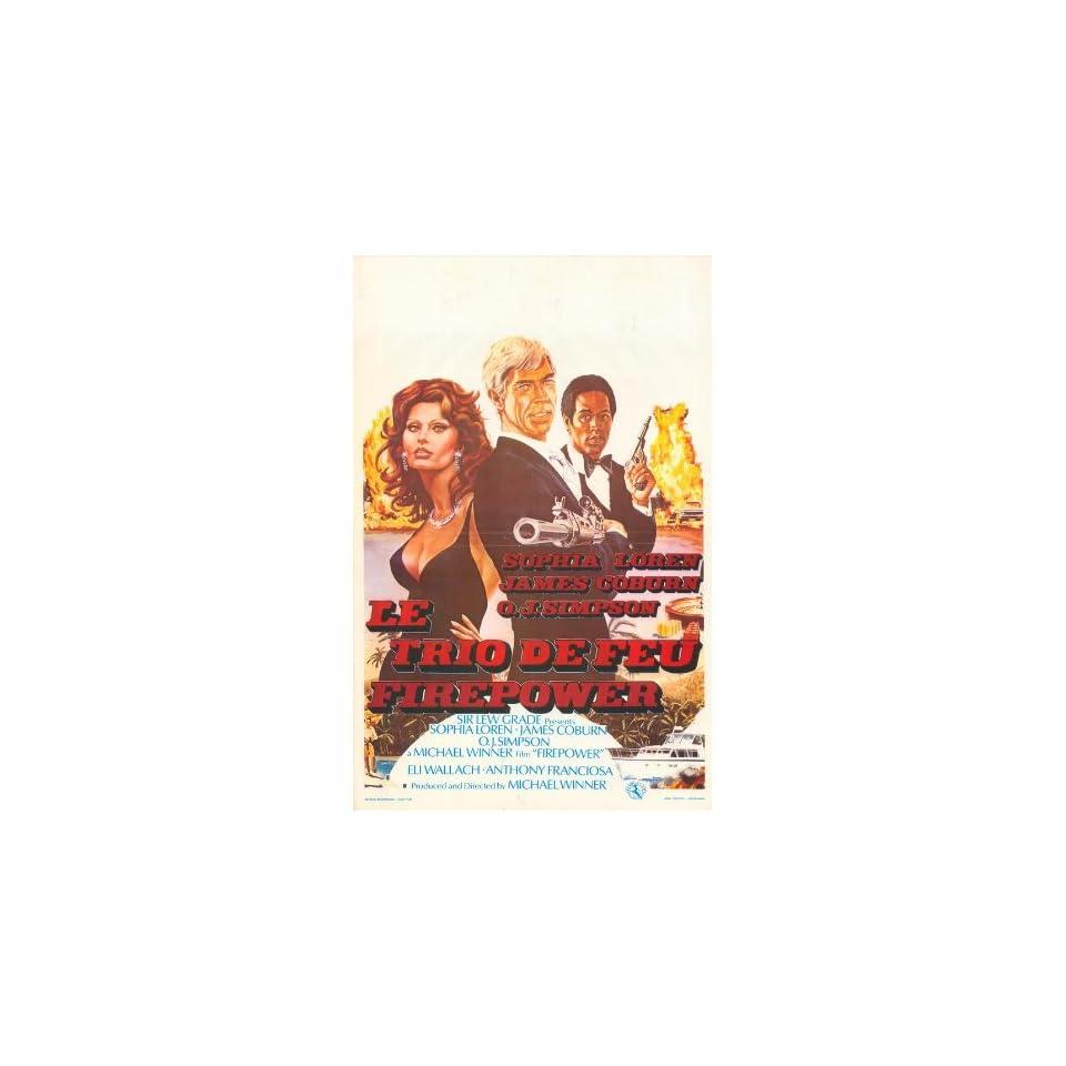 Firepower Movie Poster (11 x 17 Inches   28cm x 44cm) (1979) Belgian Style A  (Sophia Loren)(James Coburn)(O.J. Simpson)(Eli Wallach)(Anthony Franciosa)