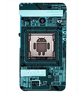 PRINTSHOPPII FUNNY ANDROID Back Case Cover for Nokia Lumia 530::Microsoft Lumia 530