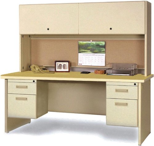 Cute You can observe more info pare charge and likewise read evaluation customer opinions just before buy Double Pedestal Steel Desk with Hutch IBA