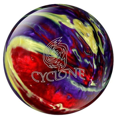 Ebonite Cyclone Bowlingkugel rot Red/Purple/Yellow 7,3 kg