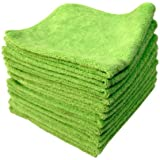 Chemical Guys MIC33312 El Gordo Professional Extra Thick Supra Microfiber Towels, Green - 16.5 in. x 16.5 in. (Pack of 12)
