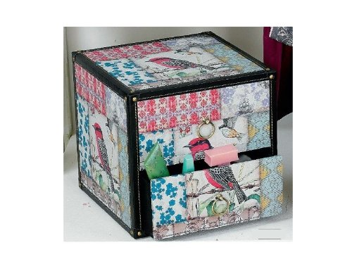 Hoff Interieur cubo Commode Birds Asian Style con 2 cassetti