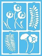 DecoArt Patio Paint Self-Adhesive Stencils 6 by 8-Inch Botanical Garden