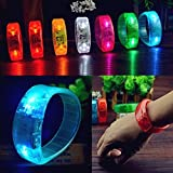 Lights - Voice Led Light Glows Wristbands Bracelet Bangle Party Concert - Part Controller Sound Dominance Light-Emitting Diode Vocalization Command Guided Wristband Restraint - 1PCs