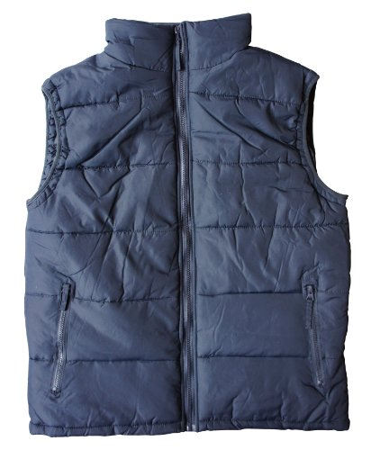 (F)Mens Bubble Gilet Bodywarmer Jacket Outerwear Coat, in Black and Navy, Sizes, M, L, XL, XXL (L, NAVY)