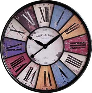 horloge murale paris nostalgie cuisine quartz horloge grande 60 cm collection de tina le. Black Bedroom Furniture Sets. Home Design Ideas