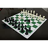 17'' x 17'' Tournament Chess Set With Plastic Staunton Solid Pieces - Ideal for Professional Players