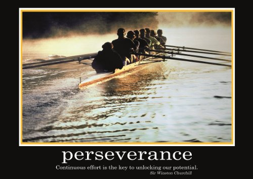 Perseverance Poster -ORIGINAL- Barney Stinson Poster - 12/13 - How I met your mother - Poster - Motivation Poster - Büro Poster - Barney Stinson Office Poster - Ruderboot Poster - motivational poster perseverance boat