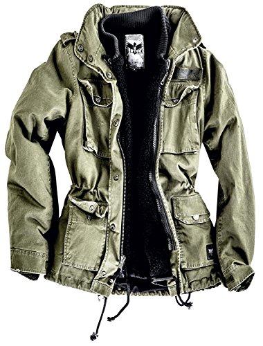 Black Premium by EMP Ladies Field Jacket Giacca donna verde oliva XS