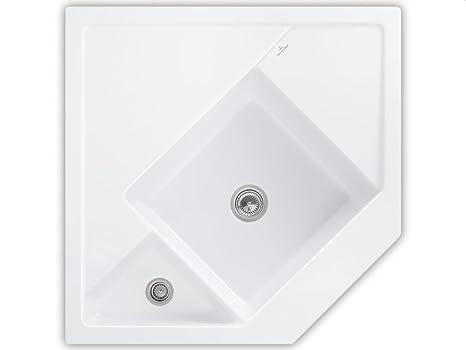 Villeroy Boch Monumentum &white (alpine) Corner Sink Keramikspule Modulspule