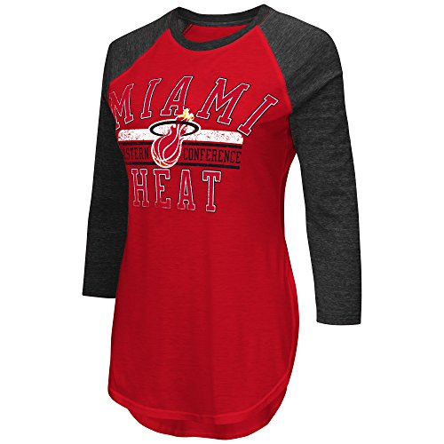 NBA Miami Heat Women's Hang Time 3/4 Sleeve Tee, Medium, Red/Black (Miami Heat Shirts For Women compare prices)
