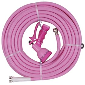 Bond 6928 Pink 50-Foot Medium Duty Garden Hose With Free 9 Pattern Nozzle