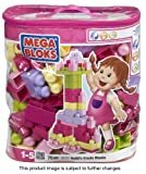 Mega Bloks 70 pc Pink Building Blocks Bag