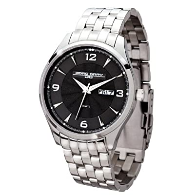 Jorg Gray JG1760-16 Black Dial Stainless Steel Band Men's Watch