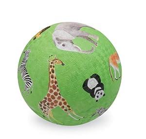 "Crocodile Creek Wild Animal Green 7"" Play Ball"