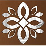 Arylic 3D Wall Décor For Home And Office - Mirror Leaf Art - JB1004M - Naveed Arts