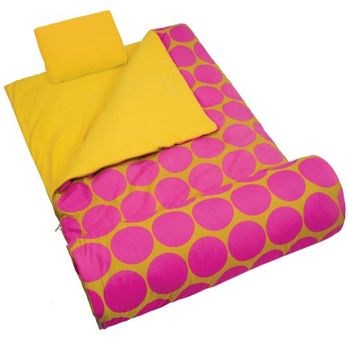 Wildkin Big Dot Hot Pink Sleeping Bag