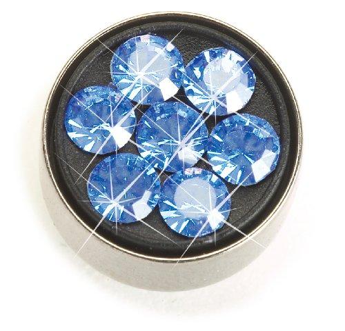Nickel Free Navel Jewelry, Daisy Sapphire Crystal