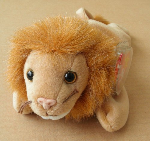TY Beanie Babies Roary the Lion Stuffed Animal Plush Toy - 8 inches long - Light Brown - 1