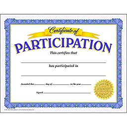 Trend T-11303BN Certificate Of Participation, 30/Pk, 6 Packs/CT